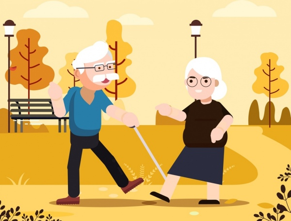 Old age background couple park icons cartoon design Free vector in Adobe Illustrator ai ( .ai ) format, Encapsulated PostScript eps ( .eps ) format format for free download 2.50MB