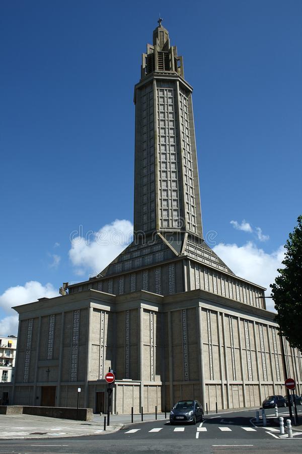 St Joseph Church Le Havre France Editorial Photo - Image of monument, coast: 123976326
